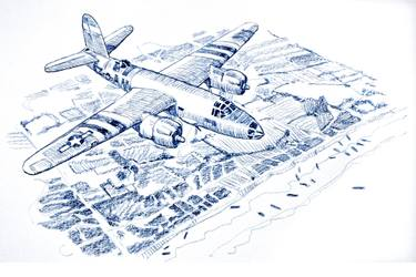 B-26 over Normandy
